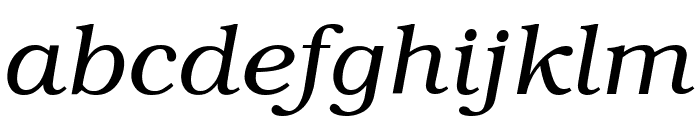 Textbook Light Italic Font LOWERCASE
