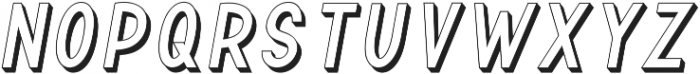 TF Continental Outline 3D Itali ttf (400) Font UPPERCASE