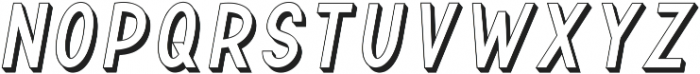 TF Continental Outline 3D Itali ttf (400) Font LOWERCASE
