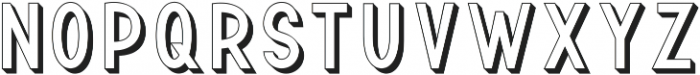 TF Continental Outline 3D ttf (400) Font LOWERCASE