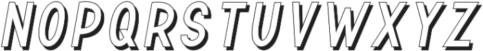 TF Continental Outline Shadow I ttf (400) Font UPPERCASE