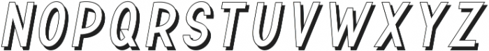 TF Continental Outline Shadow I ttf (400) Font LOWERCASE