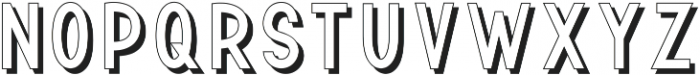 TF Continental Outline Shadow ttf (400) Font LOWERCASE