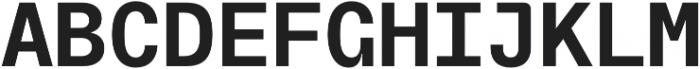 TG Frekuent Mono Bold otf (700) Font UPPERCASE