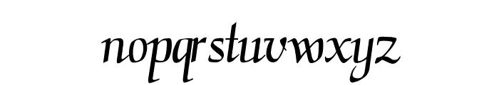 TGScript Font LOWERCASE