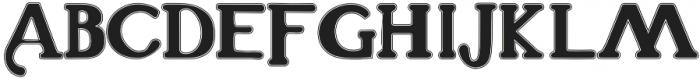 THE ELEVATES-COLLEGE Regular otf (400) Font UPPERCASE