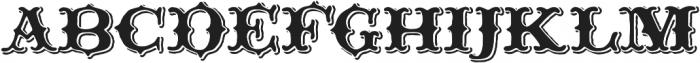 Thankful Display Shadow otf (400) Font UPPERCASE