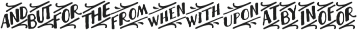 Thankful Extras Catchwords ttf (400) Font UPPERCASE