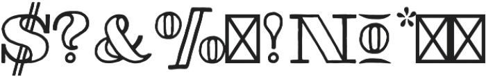 Thankful Modern Outline otf (400) Font OTHER CHARS