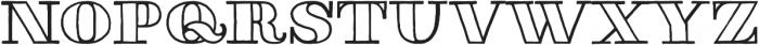 Thankful Modern Outline otf (400) Font UPPERCASE