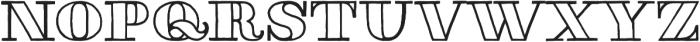 Thankful Modern Outline otf (400) Font LOWERCASE