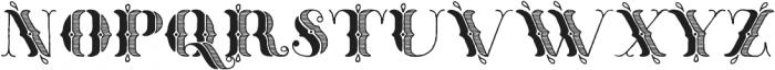Thankful Ornate Shaded ttf (400) Font UPPERCASE