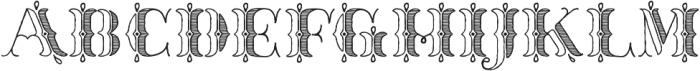Thankful Ornate Shaded ttf (400) Font LOWERCASE