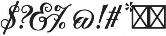Thankful Script otf (400) Font OTHER CHARS