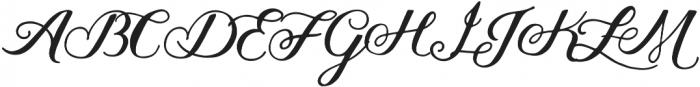 Thankful Script otf (400) Font UPPERCASE