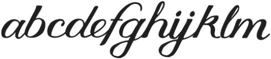 Thankful Script otf (400) Font LOWERCASE