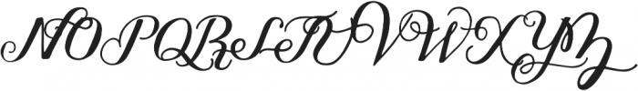 Thankful Script ttf (400) Font UPPERCASE