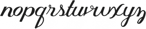 Thankful Script ttf (400) Font LOWERCASE