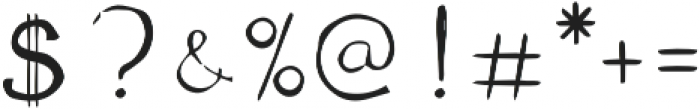 The Anomali otf (400) Font OTHER CHARS