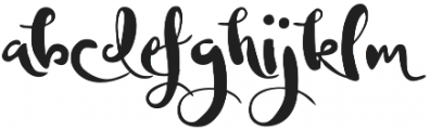 The Artist otf (400) Font LOWERCASE