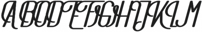 The Athletica Black Italic otf (900) Font UPPERCASE