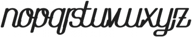 The Athletica Black Italic otf (900) Font LOWERCASE