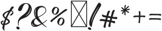 The Baghotta Script Regular otf (400) Font OTHER CHARS