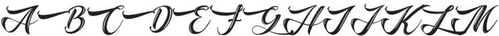 The Baghotta Script Regular otf (400) Font UPPERCASE