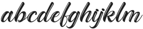 The Baghotta Script Regular otf (400) Font LOWERCASE