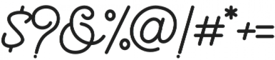 The Beautyline Regular otf (400) Font OTHER CHARS
