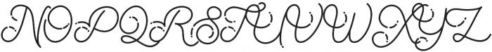 The Beautyline Regular otf (400) Font UPPERCASE