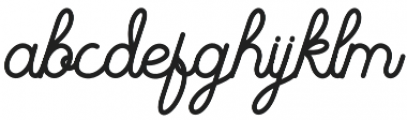 The Beautyline Regular otf (400) Font LOWERCASE