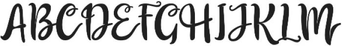 The Billow Regular otf (400) Font UPPERCASE