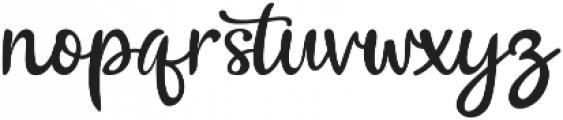 The Billow Regular otf (400) Font LOWERCASE