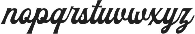 The Blendhes otf (400) Font LOWERCASE