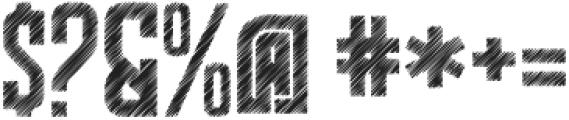 The Bridges Sketch otf (400) Font OTHER CHARS