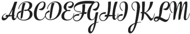 The Carpenter Bold Regular otf (700) Font UPPERCASE