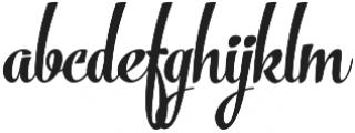 The Carpenter Bold Regular otf (700) Font LOWERCASE