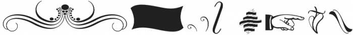 The Carpenter Ornaments Regular otf (400) Font OTHER CHARS