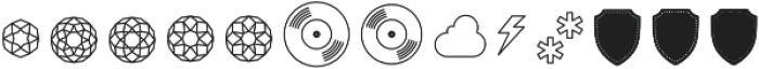 The Carpenter Pictograms otf (400) Font UPPERCASE