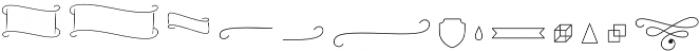 The Carpenter Pictograms otf (400) Font LOWERCASE
