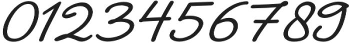 The Castellon Slant otf (400) Font OTHER CHARS
