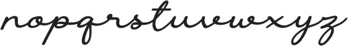 The Castellon Slant otf (400) Font LOWERCASE