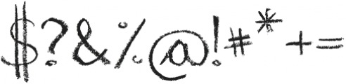 The Chalk Bar otf (400) Font OTHER CHARS