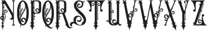 The Crow Regular otf (400) Font UPPERCASE