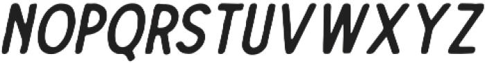 The Dodger Inky Italic otf (400) Font UPPERCASE