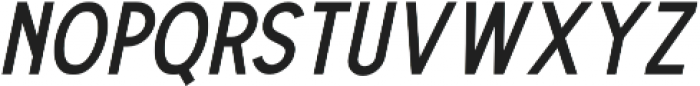 The Dodger Italic otf (400) Font UPPERCASE