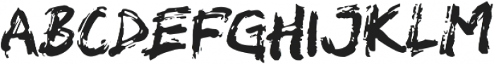 The Earth Face Brush otf (400) Font UPPERCASE