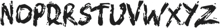 The Earth Face Brush otf (400) Font LOWERCASE