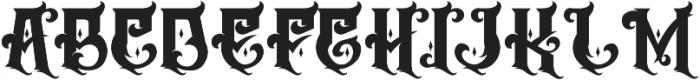 The Empire wars ornament basic otf (400) Font UPPERCASE
